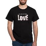 100% Love Black T-Shirt