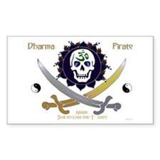 Dharma Pirate Rectangle Decal