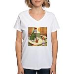 ALICE & THE CATERPILLAR Women's V-Neck T-Shirt