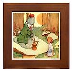 ALICE & THE CATERPILLAR Framed Tile