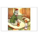 ALICE & THE CATERPILLAR Large Poster