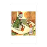 ALICE & THE CATERPILLAR Mini Poster Print