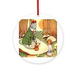 ALICE & THE CATERPILLAR Ornament (Round)