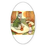 ALICE & THE CATERPILLAR Oval Sticker (50 pk)