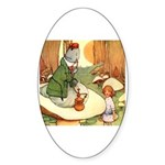 ALICE & THE CATERPILLAR Oval Sticker