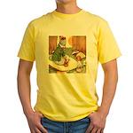 ALICE & THE CATERPILLAR Yellow T-Shirt