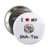"I love my Shih-tzu 2.25"" Button"
