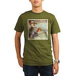 ALICE & THE CAUCUS RACE Organic Men's T-Shirt (dar