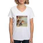 ALICE & THE CAUCUS RACE Women's V-Neck T-Shirt