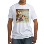 ALICE & THE CAUCUS RACE Fitted T-Shirt