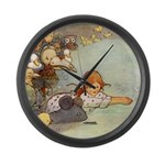ALICE & THE CAUCUS RACE Large Wall Clock