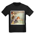 ALICE & THE CAUCUS RACE Kids Dark T-Shirt