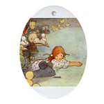 ALICE & THE CAUCUS RACE Oval Ornament