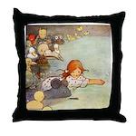 ALICE & THE CAUCUS RACE Throw Pillow