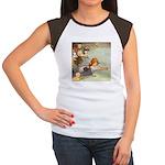 ALICE & THE CAUCUS RACE Women's Cap Sleeve T-Shirt