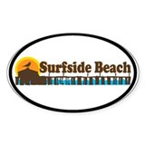 Surfside Beach SC - Pier Design Oval Decal