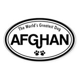 World's Greatest Afghan Oval Decal