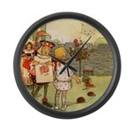 ALICE & THE CHESHIRE CAT Large Wall Clock