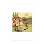 ALICE & THE CHESHIRE CAT Rectangle Sticker 50 pk)