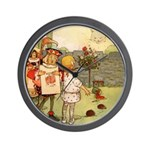 ALICE & THE CHESHIRE CAT Wall Clock