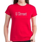 U Street White Letters Women's Dark T-Shirt