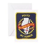 Mount Vernon Police Greeting Cards (Pk of 10)