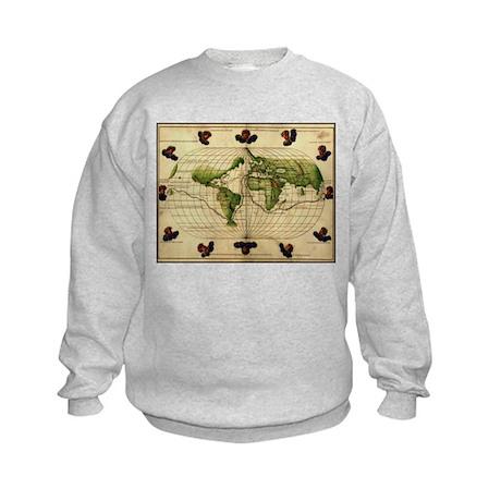"""1544 World Map"" Kids Sweatshirt"