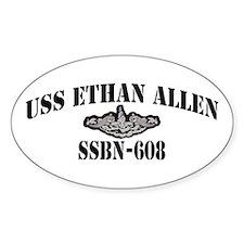 USS ETHAN ALLEN Oval Decal
