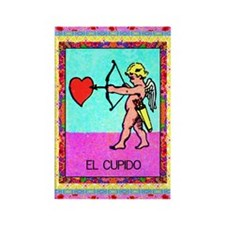 Vintage Loteria Cupid Rectangle Magnet