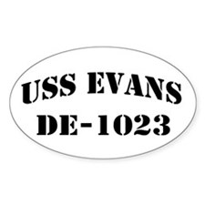 USS EVANS Oval Decal