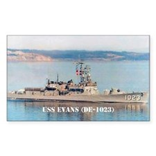 USS EVANS Rectangle Decal