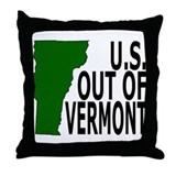 U.S. OUT OF VERMONT Throw Pillow