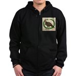 Turkey and Wreath Zip Hoodie (dark)