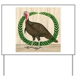 Turkey and Wreath Yard Sign