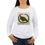 Turkey and Wreath Women's Long Sleeve T-Shirt