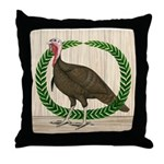 Turkey and Wreath Throw Pillow