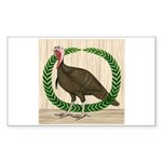 Turkey and Wreath Rectangle Sticker 50 pk)
