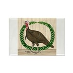 Turkey and Wreath Rectangle Magnet (10 pack)