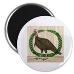 Turkey and Wreath Magnet