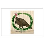 Turkey and Wreath Large Poster