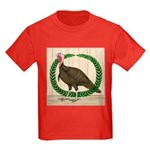 Turkey and Wreath Kids Dark T-Shirt