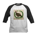 Turkey and Wreath Kids Baseball Jersey