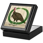 Turkey and Wreath Keepsake Box