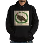 Turkey and Wreath Hoodie (dark)