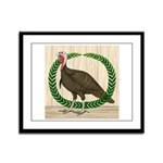 Turkey and Wreath Framed Panel Print