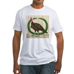 Turkey and Wreath Fitted T-Shirt