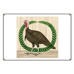 Turkey and Wreath Banner