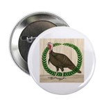 "Turkey and Wreath 2.25"" Button"