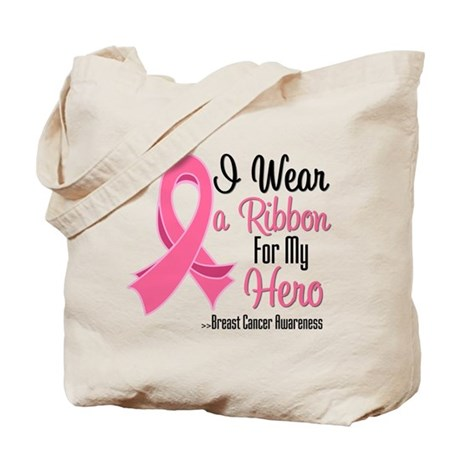 Hero - Breast Cancer Tote Bag