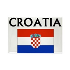 Unique Croatia Rectangle Magnet